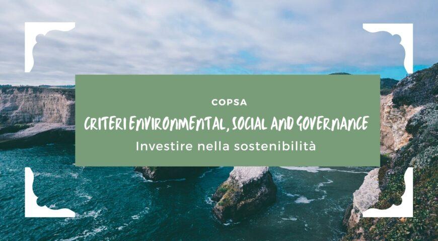 Investire nella sostenibilità